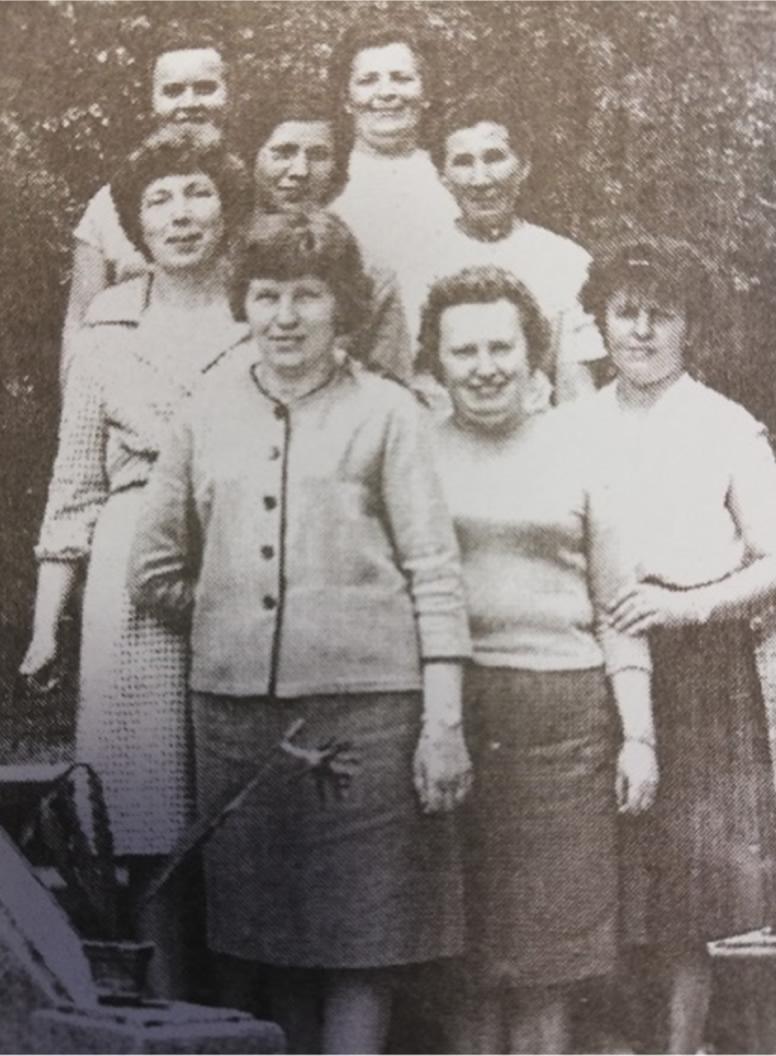 zaměstnankyně v roce 1950